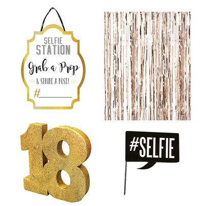 18th Birthday Gold Selfie Kit