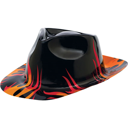 50s Classic Flame Fedora Hat front