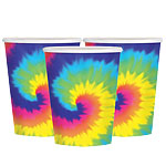 60s Feeling Groovy Cups - 266ml Paper Party Cups