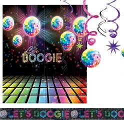 70's Disco Fever Room Decorating Kit - 14 Pieces