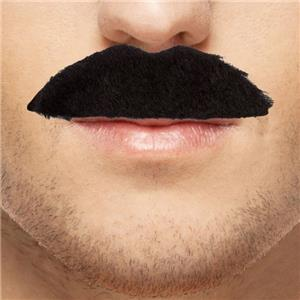 70s Disco Fever Moustaches - Black