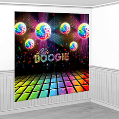 70s Disco Fever Scene Setter Wall Decorating Kit - 1.7m