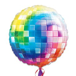 "70s Disco Ball Fever SuperShape Balloon - 32"" Foil"