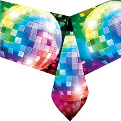 70s Disco Fever Tablecover - Plastic Party Cover
