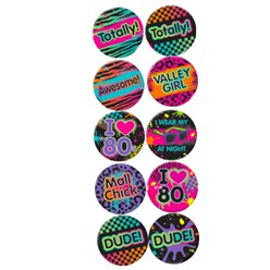 Totally 80s Button Badges
