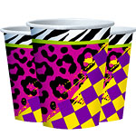Totally 80s Cups - 266ml Paper Party Cups