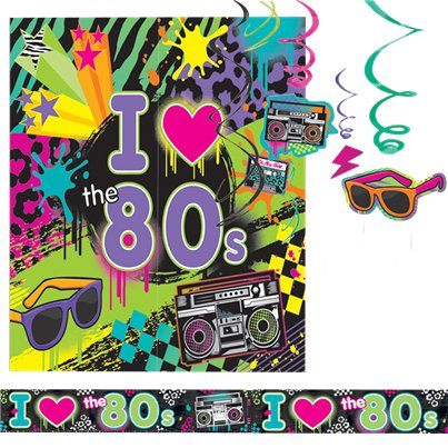 Totally 80's Room Decorating Kit - 14 Pieces