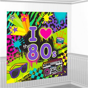 Totally 80s Scene Setter - Wall Decorating Kit