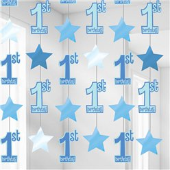 1st Birthday String Decoration Blue