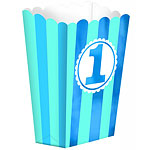 Boy's 1st Birthday Popcorn Box