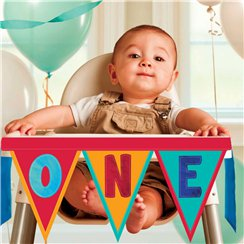 Rainbow 1st Birthday High Chair Decorating Kit