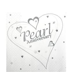 Pearl Anniversary Napkins - 3ply Paper