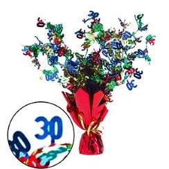 30th Birthday Spray Centrepiece Table Decoration - 15""