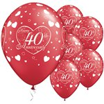40th Anniversary Little Hearts Balloons - 11