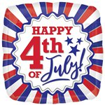 "4th of July Patriotic Balloon - 18"" Foil"