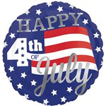 "Happy 4th of July Balloon - 18"" Foil"