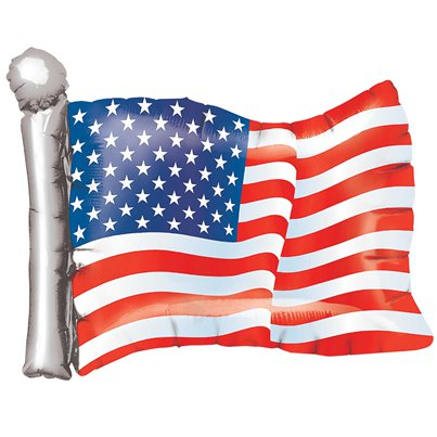 "American Flag Supershape Balloon - 27"" Foil"