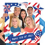 4th of July Giant Customisable Selfie Frames