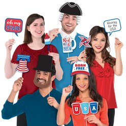 4th July Photo Booth Props