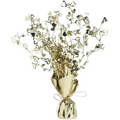 Gold Heart 50th Wedding Anniversary Spray Table Centrepiece - 30cm