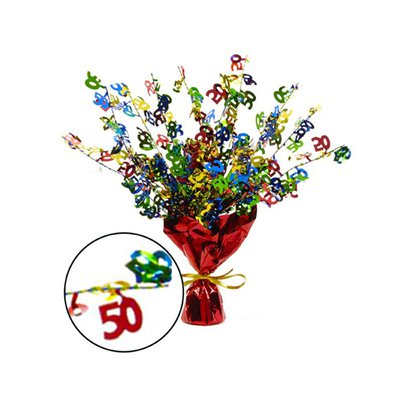 50th Birthday Spray Centrepiece Table Decoration - 15""