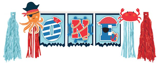 Ahoy Birthday High Chair Banner