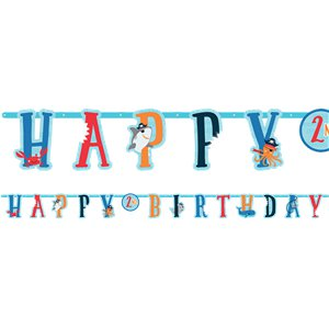 Ahoy Birthday Jumbo Add an Age Letter Banner Kit