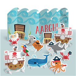 Ahoy Birthday Table Decoration Kit