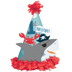 Ahoy Birthday 1st Birthday Cone Hat - 17cm