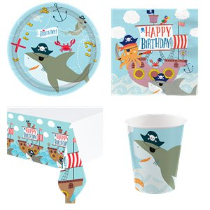 Ahoy Birthday Party Pack - Value Pack For 8