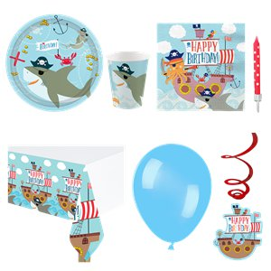 Ahoy Birthday Party Pack - Deluxe Pack For 8