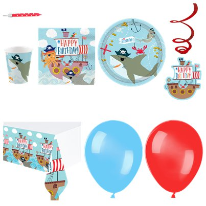 Ahoy Birthday Party Pack - Deluxe Pack For 16