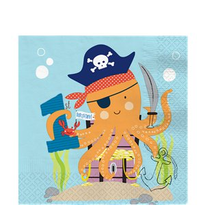 Ahoy Birthday 1st Birthday Napkins - 33cm