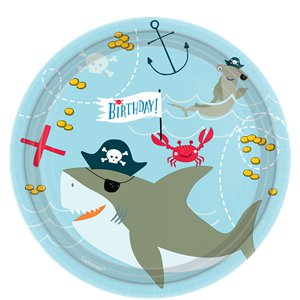 Ahoy Birthday Plates - 23cm Paper Party Plates