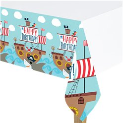 Ahoy Birthday Plastic Tablecover - 1.37m x 2.6m