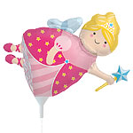 "Fairy Godmother Balloon on a Stick - 14"" Foil"