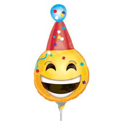 "Birthday Emoji Mini Airfilled Balloon - 9"" Foil"