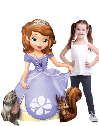 "Sofia the First Airwalker Balloon - 48"" Foil"