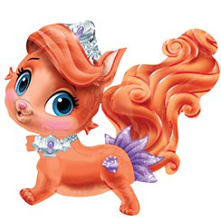 "Ariel's Kitty Treasure Balloon - 29"" Foil"