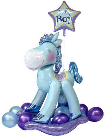 "Blue Rocking Horse AirWalker - 50""Foil"