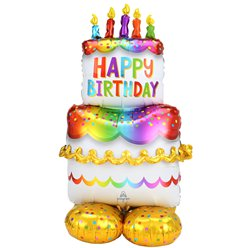 "Cake AirLoonz Balloon - Air Fill 53"" Foil"