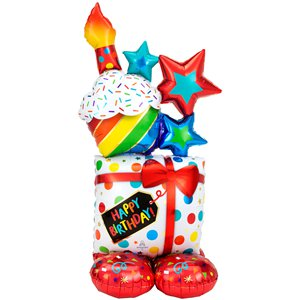 Colourful Birthday Cluster AirLoonz Balloon - 55