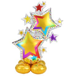 "Colourful Star Cluster AirLoonz Balloon - 59"" Foil"