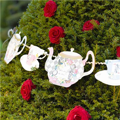 Truly Alice Tea Party Bunting - 4m