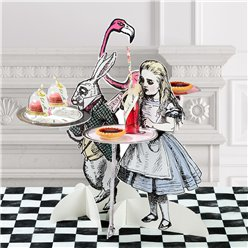 Alice in Wonderland Cake Stands - 41cm