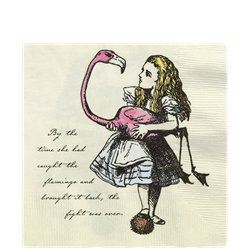 Alice in Wonderland Paper Napkins - 33cm