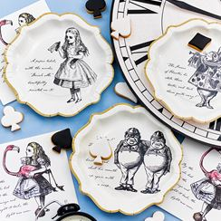 Truly Alice Plates - 23cm Paper Party Plates