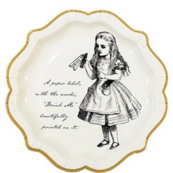 Alice in Wonderland Paper Plates - 23cm