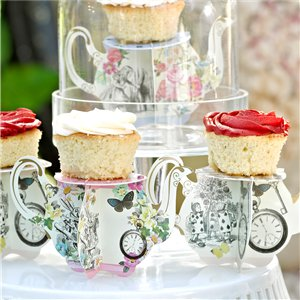 Alice in Wonderland Teapot Cake Stands - 8cm