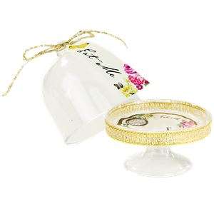 Alice in Wonderland Cake Dome, Tag & Doily Set